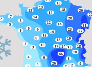 Où neige-t-il en France, à quelle saison et en quelles quantités ?