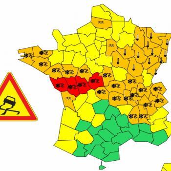 Épisode majeur de neige & verglas de la Bretagne au Poitou et aux Alpes ce 12 février