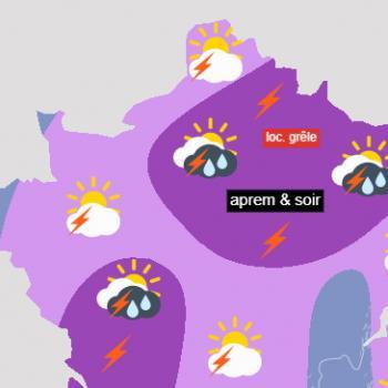 Prévisions détaillées du risque d'orages jusqu'au week-end des 5 et 6 juin 2021