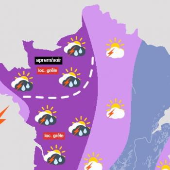 Plusieurs vagues d'orages violents en France jusqu'au week-end des 19 et 20 juin 2021