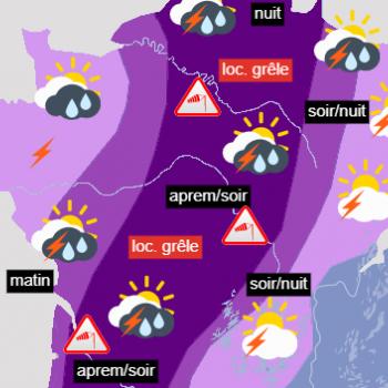 Nouveaux orages sur la France durant ce week-end des 19 et 20 juin 2021
