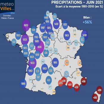 Bilan météo et climatique de juin 2021 : très instable, mais finalement assez chaud