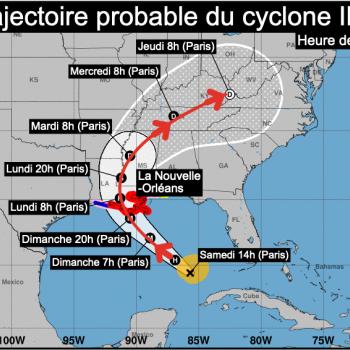 Cyclone majeur IDA aux USA et notamment en Louisiane ce dimanche 29 août 2021