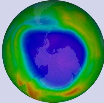 Le trou de la couche d'ozone est anormalement grand en ce mois de septembre 2021