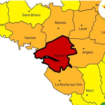 Alerte rouge en Loire-Atlantique, épisode cévenol, orages et vents violents sur la France entre le samedi 2 et le lundi 4 octobre 2021