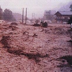 Orage diluvien & crue éclair meurtrière au Grand Bornand le 14 juillet 1987