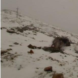 Début d'été sous la neige dans les Highlands en Ecosse