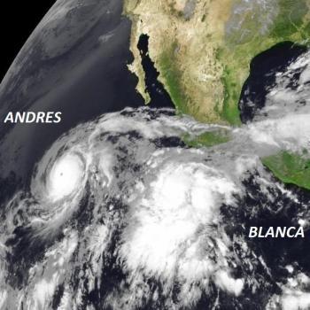 Cyclones Andres et Blanca sur l'Est du Pacifique