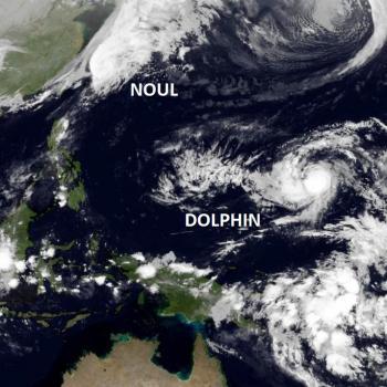 Typhons sur le Pacifique : Noul et Dolphin