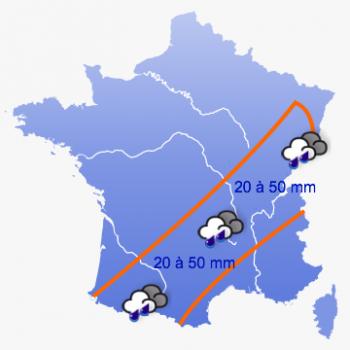 PREVISIONS METEO : Fortes pluies pour dimanche 3 juin
