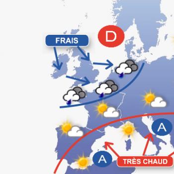 Températures très contrastées en France dimanche après-midi