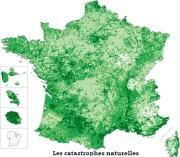 Evolution du nombre de catastrophes naturelles en France