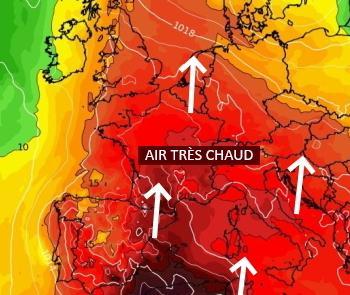 Masse d'air tropicale sur la France et orages difficiles à prévoir