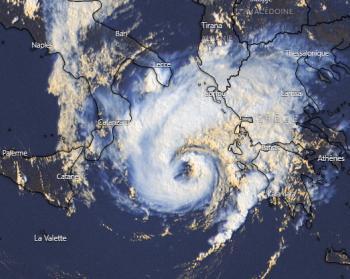 Médicane Ianos : un petit cyclone en Méditerranée