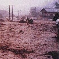 Orage & crue éclair au Grand Bornand le 14 juillet 1987
