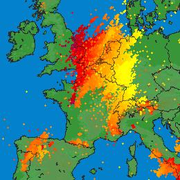 De violents orages interrompent le pic de chaleur en France et en Belgique