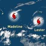 Les ouragans Madeline et Lester menacent Hawaï