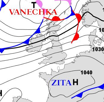 Tempête sur l'Europe du Nord - Anticyclone durable en France