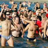 Une température de l'eau remarquablement douce pour les bains de Noël