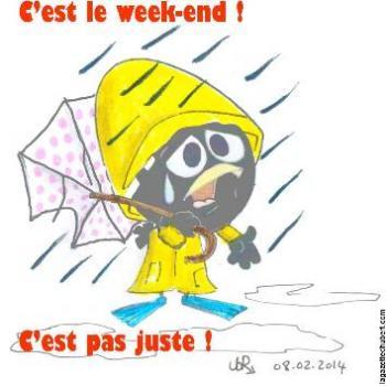 Il fait beau la semaine et il pleut le week-end !
