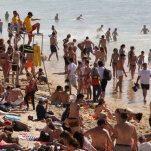 Les plages prises d'assaut lors des premières fortes chaleurs