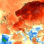 Chaleur record en Europe du Nord