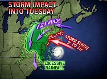 Le cyclone Sandy touche désormais New-York et Washington
