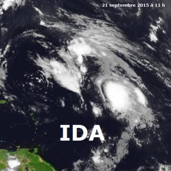 Tempête tropicale Ida sur l'Atlantique