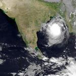 Tempête Kyant du Golfe du Bengale vers l'Inde