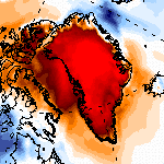 Douceur exceptionnelle au Groenland, 20°C au-dessus des normales !