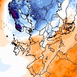 Le froid sur l'Europe de l'Est et la Scandinavie n'atteint pas la France