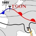 Vent et neige au creusement de la dépression Egon