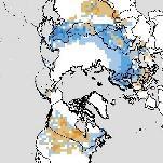 Enneigement sur l'hémisphère Nord proche de la normale