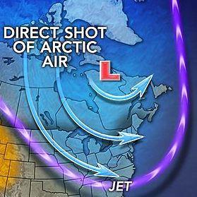 Vortex polaire : neige et froid entre Canada et Etats-Unis