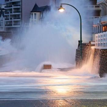 Les grandes marées provoquent quelques inondations