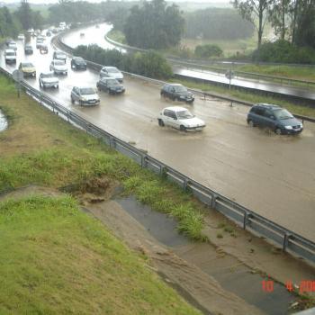 Pluies diluviennes sur l'île de la Réunion