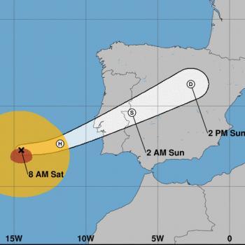 Le cyclone Leslie aux portes de l'Europe