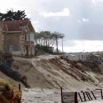 Erosion sur la cote Atlantique suite aux tempêtes de l'hiver