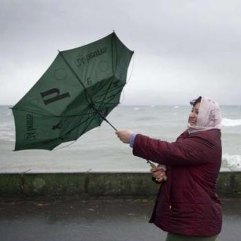 La tempête Xanthos touche les côtes de la Manche
