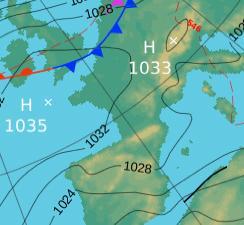 En route vers des conditions anticycloniques
