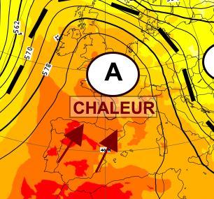 Blocage anticyclonique : temps sec et très chaud en perspective