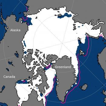 Glaces de l'Arctique : 4e étendue la plus basse pour un mois de juin