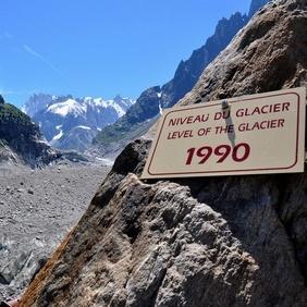 La Mer de Glace a perdu plus de 3 mètres d'épaisseur en un an