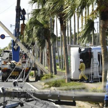 Le typhon Malakas frappe le Japon