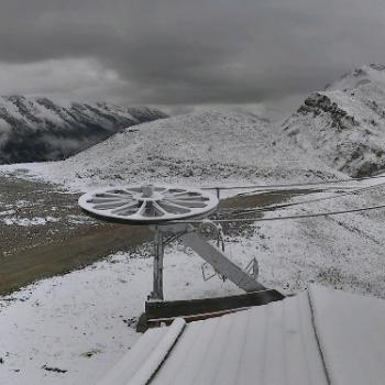 Première chute de neige de la saison en moyenne montagne