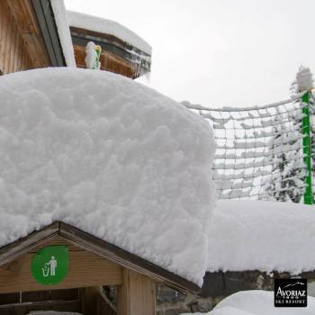 Forte chute de neige et risque d'avalanche dans les Alpes