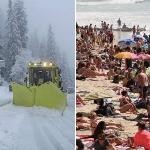Le mois de mai souffle le chaud, le froid et la neige
