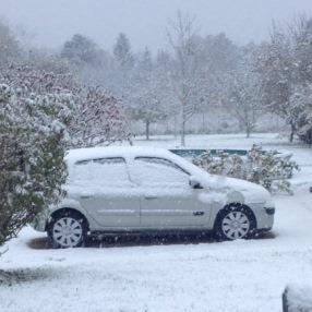 Premières chutes de neige en plaine de la saison