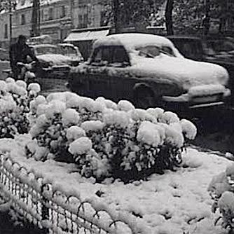 La neige recouvre une partie de la France début novembre 1966
