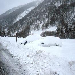 Plus d'un mètre de neige en 3 jours par retour d'Est sur le Queyras